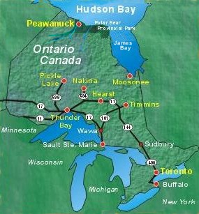 Click for Large Map of Ontario